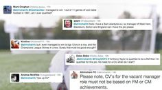 Football club seriously regrets posting a job opening on Twitter