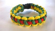 How to make a tri-color-cobra braid bracelet.