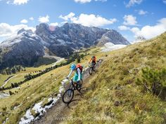 """Mountain Biking in the Dolomites, Fall 2016 #3 - Mountain Biking in the Dolomites, Val Gardena, Italy.  Image available for licensing.  Order prints of my images online, shipping worldwide via  <a href=""""http://www.pixopolitan.net/photographers/oberschneider-christoph-a6030.html"""">Pixopolitan</a> See more of my work here:  <a href=""""http://www.oberschneider.com"""">www.oberschneider.com</a>  Facebook: <a href=""""http://www.facebook.com/Christoph.Oberschneider.Photography"""">Christoph Oberschneider…"""