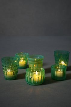 votive candles — need to find something like these! the color is whimsy <3