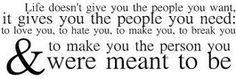 the person you were meant to be