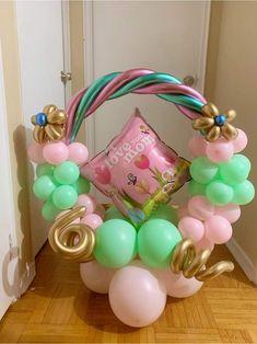 Balloon Crafts, Balloon Gift, Balloon Ideas, Balloon Decorations Party, Hula Hoop, Balloon Designs, Baby Shower Balloons, Balloon Bouquet, Mothers