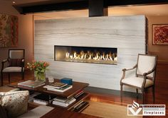 DaVinci Linear Fireplaces from Vancouver Gas Fireplaces