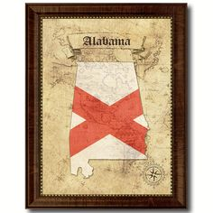 Alabama State Vintage Flag Gifts Home Decor Wall Art Canvas, Frame,	Canvas, Giclee, Digital Prints, Painting, Canvas Print, Prints, Poster, Sign, Quotes, Art