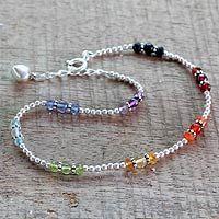 Multi-gemstone chakra anklet, 'Harmonious Energy' from @NOVICA, They help #artisans succeed worldwide.