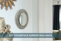 Try this IKEA mirror hack - transform an IKEA Heat Trivet into a glamorous mirror for your wall! Home Decor Hacks, Diy Home Decor, Ikea Mirror Hack, Hacks Diy, Ikea Hacks, Under Bed Storage Boxes, Sunburst Mirror, Diy Frame, Reuse