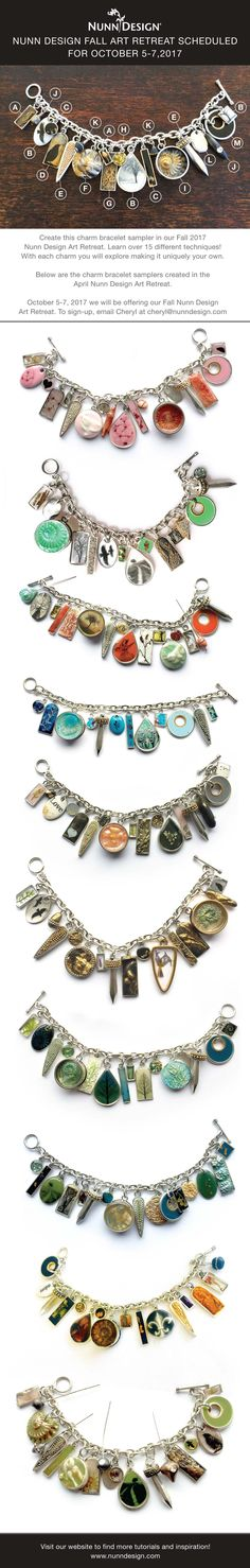 Nunn Design Fall Art Retreat, in Port Townsend, Washington, is Scheduled for October 5-7, 2017. Sign up for the 3 day retreat and create a charm bracelet sampler while learning over 15 different techniques!