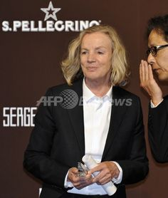 erman designer Jil Sander is awarded the Designer of the Year during the 53rd awards ceremony of the Fashion Editors' Club of Japan (FECJ) at a hotel in Tokyo on April 27, 2010  AFPBB News