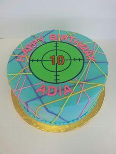 Laser tag cake. #ADCBakery #lasertag #target #birthdaycakes