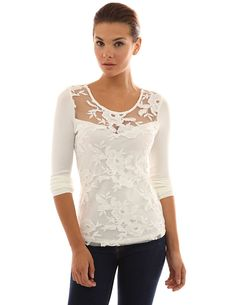 PattyBoutik Women's Floral Lace Sweetheart Top ** This is an Amazon Affiliate link. Be sure to check out this awesome product.
