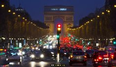 A sign reading 'Paris is Charlie' was projected on the Arc de Triomphe in solidarity with the victims of the shooting at the satirical newspaper  Saturday, Jan. 10, 2015.