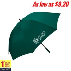 Ensure high visibility to the brand information by investing on these umbrellas ! #oversize #golf #logo #freesetup #umbrellas
