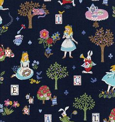 When the real world is wet and cold, this Alice in Wonderland fabric will transport you into a time and place that is simply enchanting!