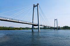Vantovyjj most.  The bridge in Krasnoyarsk.  View from the right bank.