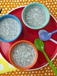 Our family has been sprinkling chia seeds on yogurt and cereal for quite some time, but it wasn't until my girlfriend Kimberly told me about her kids' love of her chia seed pudding that I decided to try using them in a new way. Chia seeds are known for their high level of omega-3 fatty acids and antioxidant properties, but how do those hard little granular chia seeds produce a pudding so creamy, rich, and well, pudding-like? When mixed with liquid chia seeds expand and take on a di...