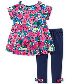 First Impressions Baby Girls' 2-Piece Floral Tunic & Pants Set