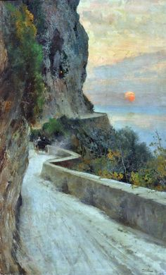 """Capri Attilio Pratella - more works by this artist "" Landscape Art, Landscape Paintings, Artist And Craftsman, Italian Painters, Pierre Auguste Renoir, Claude Monet, Henri Matisse, Gustav Klimt, Beautiful Paintings"