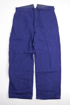 French vintage blue work pants/France 1950's/cotton