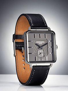 Best New Men's Watches - Esquire 2010 Watch Awards - Esquire...Titanium Carrè H watch ($16,225) by Hermès