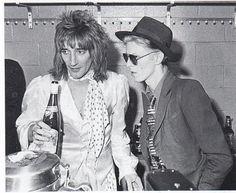 Rod Stewart and David Bowie