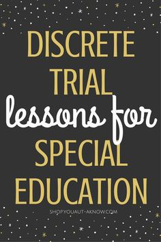 Discrete Trial Training is an Evidence Based Practice for Autism. I use it in my Special Education classroom to teach many academic skills. Check out all the skills I teach using DTT in my classroom!