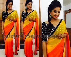 Priyamani Mirror Work Blouse | Saree Blouse Patterns