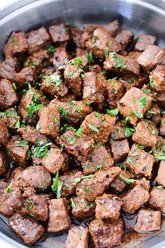 My Incredible Recipes – Discover Delicious Garlic Butter Steak, Steak Bites, Juicy Steak, Beef Tips, Salisbury Steak, Dinner Entrees, Recipes Dinner, Incredible Recipes, Steak Recipes
