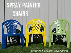 spray painted outdoor chairs 8 text
