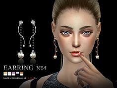 S-Club LL ts4 earring 04(f) | Sims 4 Updates -♦- Sims Finds & Sims Must Haves -♦- Free Sims Downloads