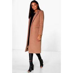 Boohoo Megan Tailored Camel Coat