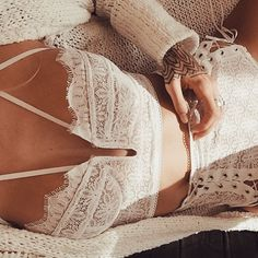 Good Morning ✨ @gypsyone layering knits over our #wantedandwildbustierbra and #wantedandwildlaceuppanty #forloveandlemons