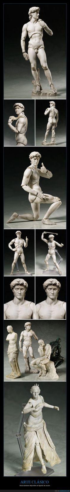 ARTE CLÁSICO - Ahora también disponible en figuras de acción   Gracias a http://www.cuantarazon.com/   Si quieres leer la noticia completa visita: http://www.estoy-aburrido.com/arte-clasico-ahora-tambien-disponible-en-figuras-de-accion/