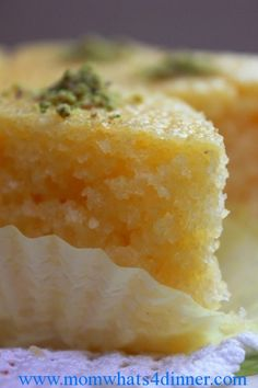 Revani - Greek Yogurt Semolina Cake #Sweets