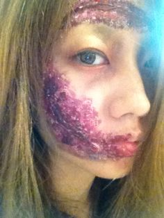 zombie makeup/for HALLOWEEN