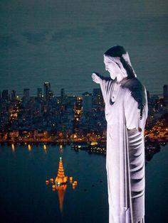 """""""Christ the Redeemer"""" on Morro de Corcovado in Rio de Janeiro ♥  """"O Cristo Redento"""" (Portuguese)"""