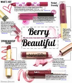 7 Berry Lips For Spring 2014, did I mention berry is my favorite