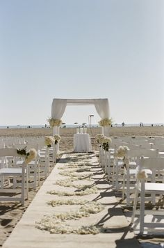 Beach wedding - too bad it's not in the cards.