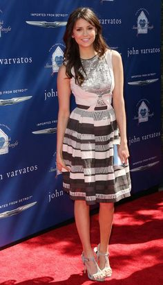 Nina Dobrev wears ELIE SAAB Ready-to-Wear Spring Summer 2013 to The John Varvatos 10th Annual Stuart House Benefit