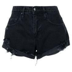 Nobody Denim Boho Short Pistol ($149) ❤ liked on Polyvore featuring shorts, black, bohemian shorts, ripped shorts, nobody denim, relaxed shorts and relaxed fit shorts