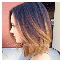 30 Amazing Blunt Bob Hairstyles to Rock this Summer (Short Medium... ❤ liked on Polyvore featuring hair