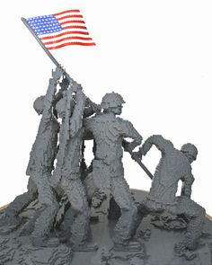 Iwo Jima Replica — Nathan Sawaya — The Art of the Brick