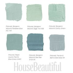 39 Best Ideas For Kitchen Green Paint Colors Palladian Blue Blue Green Paints, Green Paint Colors, Interior Paint Colors, Paint Colors For Home, House Colors, Interior Design, Wall Colours, Accent Colors, Design Design