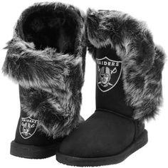 Women's Cuce Shoes Black Oakland Raiders Champions Boots