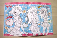 Brand New Anime Cute Japanese Dogs Coloring Book with a Sheet of Stickers