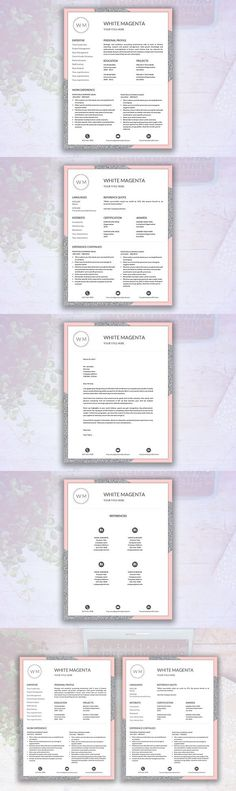 Adriana - Feminine Resume/CV Resume Templates Pinterest Resume - different resume templates