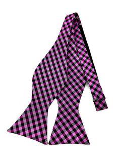 Violet Black White Checks Self Tied Bowtie Ties Online, Formal Tie, Crazy Colour, Fancy Party, Bowties, Wedding Men, Groomsmen, Color Combinations, That Look