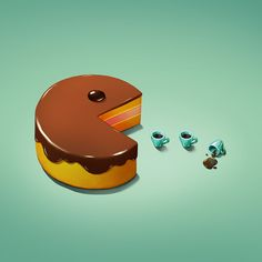Art Snacks - a new juicy set for NeonMob on Behance