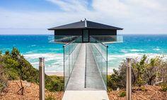 The Pole House, o refúgio fica ao longo da Great Ocean Road, que parece flutuar sobre o mar