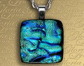 Dichroic pendant - looks like the sea