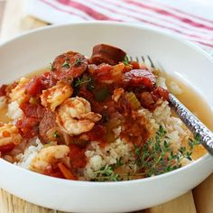 You're gonna love this Easy Crockpot Jambalaya Recipe! Full of amazing flavor with smoked sausage, shrimp, tomatoes, and Creole seasoning. Make it as mild or as spicy as you want! It's an easy low carb and keto slow cooker recipe. So satisfying and filling. Slow cooker jambalaya is a perfect weeknight dinner idea! #crockpotjambalaya #slowcooker #keto #dinner #lowcarb #smokedsausage #shrimp #seafood #creole #jambalayarecipe #jambalayarecipeeasy #jambalayarecipecrockpot Slow Cooker Jambalaya, Sausage Jambalaya, Jambalaya Recipe, Creole Recipes, Cajun Recipes, Cajun Food, Best Cabbage Recipe, Cabbage Recipes, Creole Seasoning